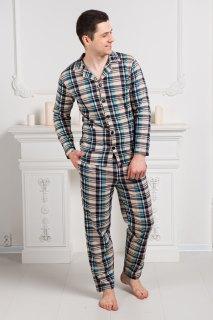 Купить Пижама мужская из футера 000100124 в розницу