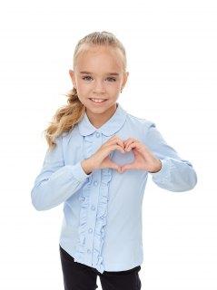 Купить Блузка для девочки 025900037 в розницу