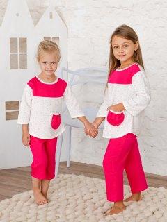 Купить Пижама детская из футера 026400708 в розницу