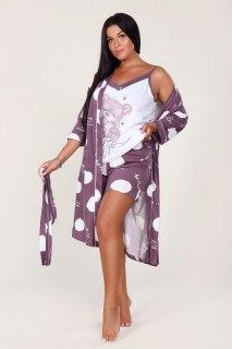 Купить Комплект халат+топ+шорты 036400053 в розницу