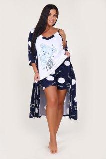 Купить Комплект халат+топ+шорты 036400054 в розницу