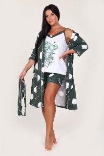 Купить Комплект халат+топ+шорты 036400055 в розницу