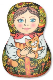 Купить Антистрессовая игрушка-подушка Матрешка 037900073 в розницу