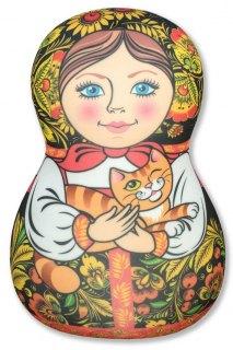 Купить Антистрессовая игрушка-подушка Матрешка 037900075 в розницу