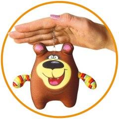 Купить Антистрессовая игрушка-брелок Медведь 037900097 в розницу