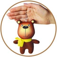 Купить Антистрессовая игрушка-брелок Звери в шарфах Медведь 037900099 в розницу
