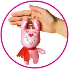 Купить Антистрессовая игрушка-брелок Звери в шарфах Зайчик 037900100 в розницу