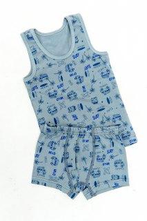 Купить Набор для мальчика из трусов-боксеров и майки 054800137 в розницу