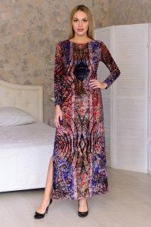 Купить Платье женское из иконвелюра 065100971 в розницу