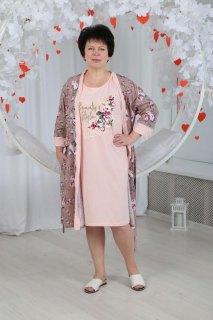 Купить Комплект женский халат+сорочка 071001113 в розницу