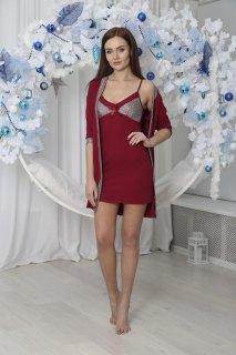 Купить Комплект женский халат+сорочка 071001117 в розницу