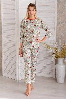 Купить Пижама женская из футера 083000960 в розницу