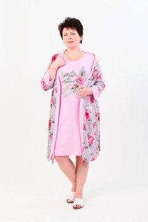 Купить Комплект женский халат+сорочка 083201105 в розницу