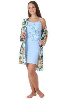 Купить Комплект женский халат+сорочка 083201341 в розницу