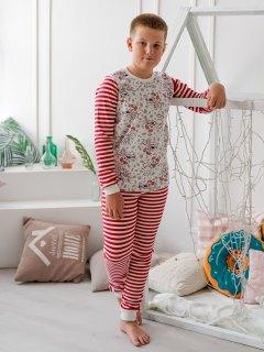 Купить Пижама подростковая комбинированная из футера и интерлока 085700519 в розницу