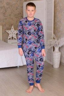 Купить Пижама подростковая из кулирки 085700524 в розницу