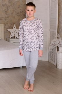 Купить Пижама подростковая из кулирки 085700525 в розницу