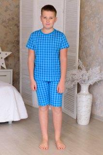Купить Пижама из футболки и бридж подростковая 085700526 в розницу