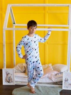 Купить Пижама детская из кулирки 085700546 в розницу