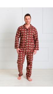 Купить Пижама мужская( фланель) 000100035 в розницу