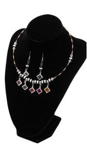Купить Гарнитур: ожерелье и серьги 000200078 в розницу
