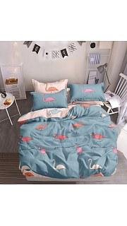 Купить КПБ Сатин 2-спальное с европростыней 006800218 в розницу