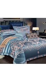 Купить КПБ Сатин Жаккард 2-спальное с европростыней 006800236 в розницу
