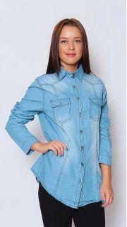 Купить Рубашка джинсовая 015801727 в розницу