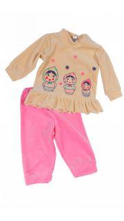 Купить Костюм для девочки (джемпер и брюки) 042200107 в розницу