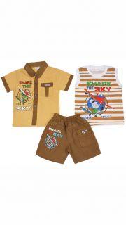 Купить Костюм: (шорты, майка и рубашка) 043001088 в розницу