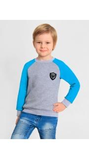 Купить Джемпер с шевроном для мальчика 048000292 в розницу