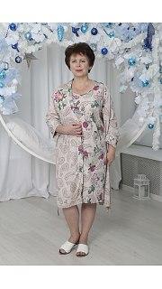 Купить Комплект женский халат+сорочка 071001115 в розницу
