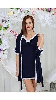 Купить Комплект женский халат+сорочка 071001119 в розницу