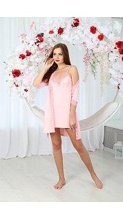 Купить Комплект женский халат+сорочка 071001120 в розницу