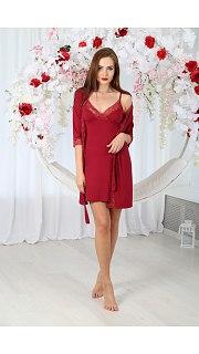 Купить Комплект женский халат+сорочка 071001121 в розницу