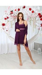 Купить Комплект женский халат+сорочка 071001122 в розницу