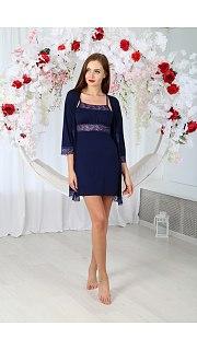 Купить Комплект женский халат+сорочка 071001123 в розницу