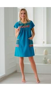 Купить Платье домашнее макси 074100199 в розницу