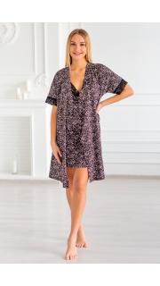 Купить Комплект женский халат+сорочка 083000604 в розницу
