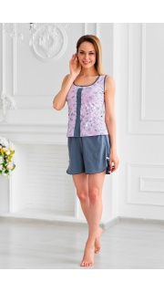 Купить Комплект женский майка+шорты 083000677 в розницу