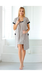 Купить Комплект женский халат+сорочка 083200743 в розницу
